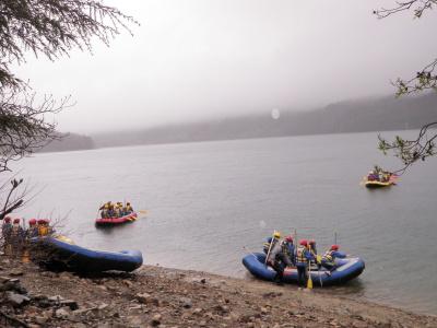青木湖ラフティング体験