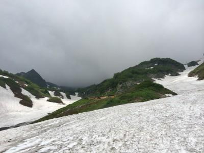 登山道からの鑓温泉