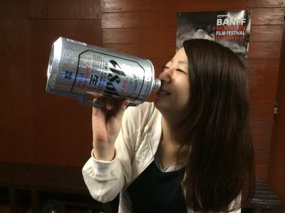 ビールでかっ
