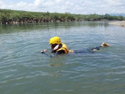 泳ぎの練習