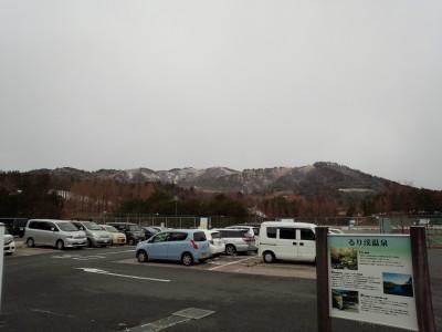 るり渓温泉から見た深山