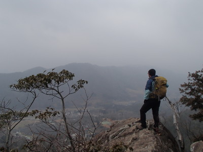 覗岩からの景色