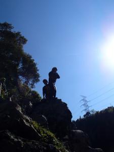 飛び込み岩にて
