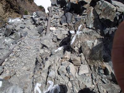足がすくむような崖