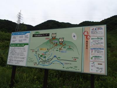 荒島岳登山マップ