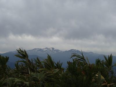 白山連峰がよく見える